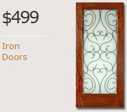 Exterior Iron Mahogany Doors