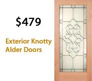 Exterior Knotty Alder Doors