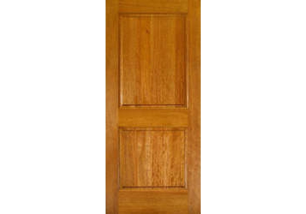 mvs6002 2 panel square top mahogany interior door with raised panel and ovolo sticking 1 3 8