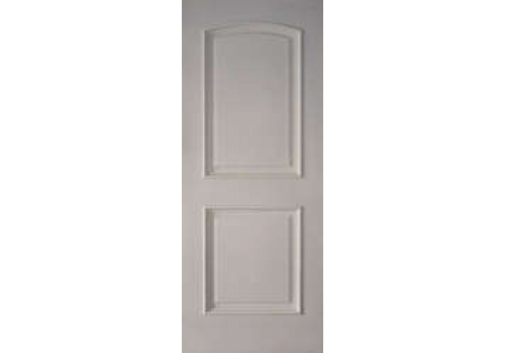 2prmsfr20 2 panel arched top white primed with moulding fire rated 20 min with wh metal label for 2 panel arch top interior doors