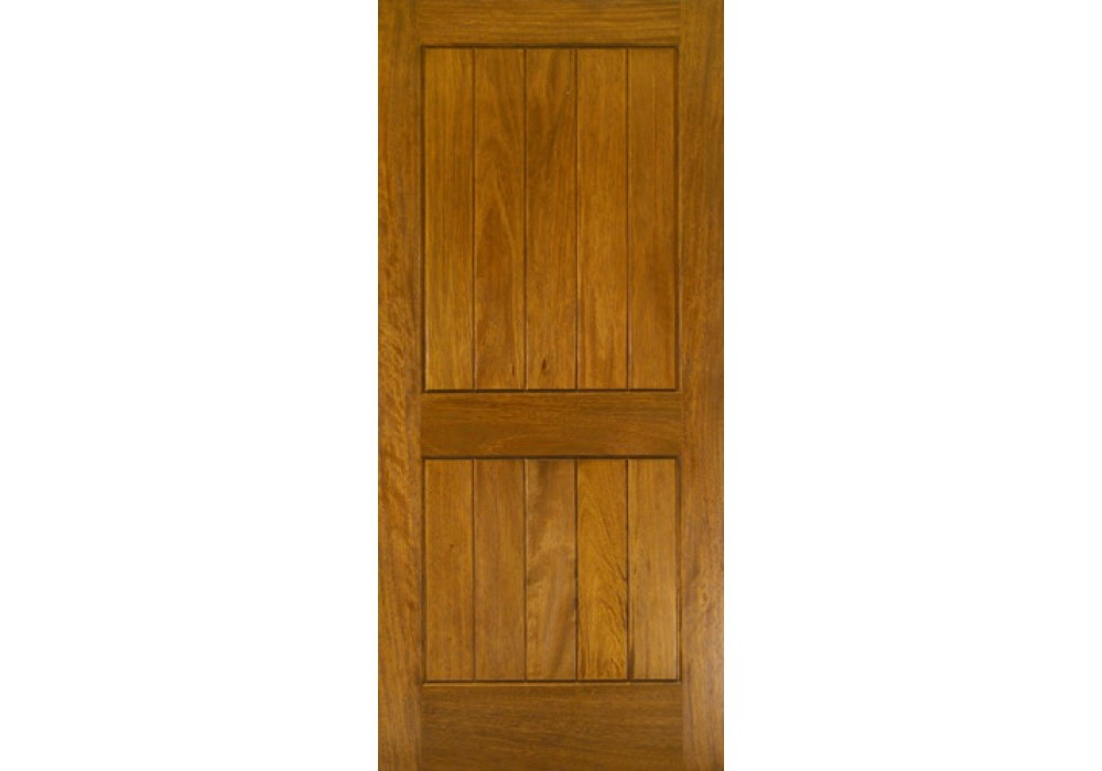 G220 Mahogany 2 Panel Square Top V Groove Door 1 3 8 Quot