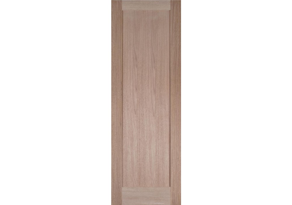Ma110 1 panel shaker flat panel no sticking mahogany for 1 panel interior door