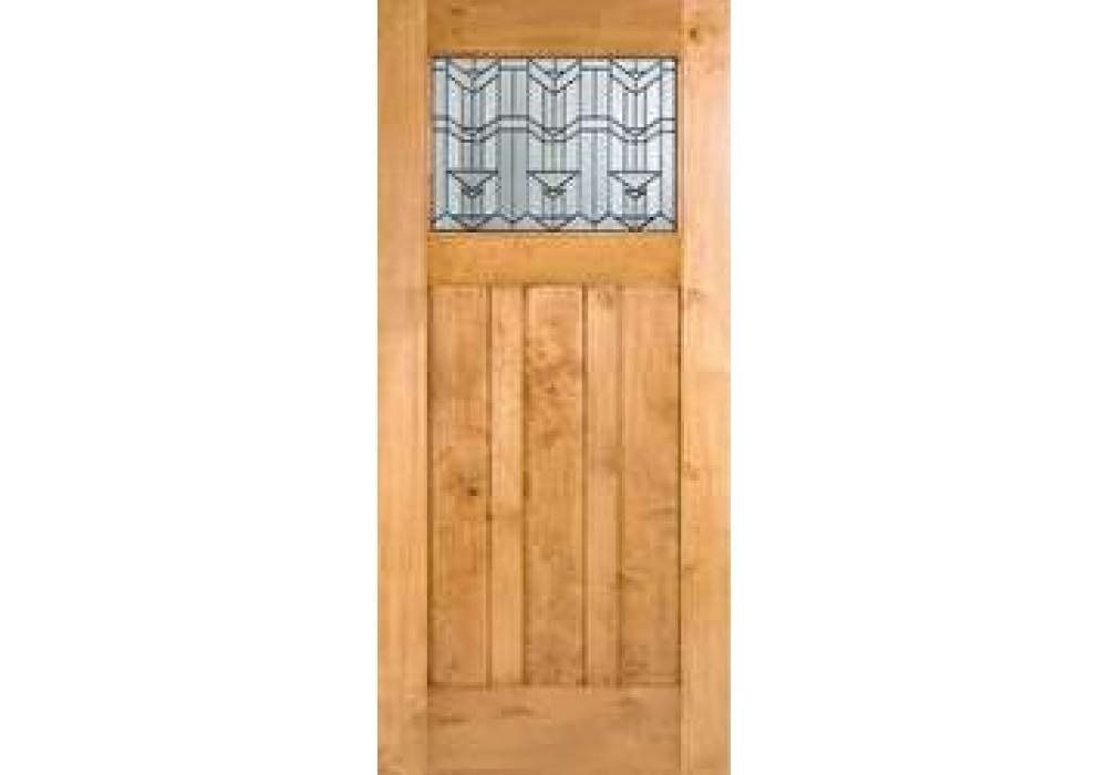 Knotty Alder Craftsman 1 Lite Door W Beveled Glass Eto