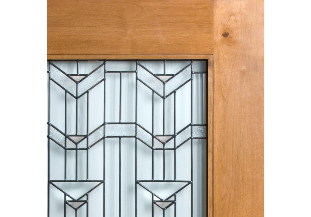 Knotty Alder Craftsman 1 Lite Door W Beveled Glass Eto
