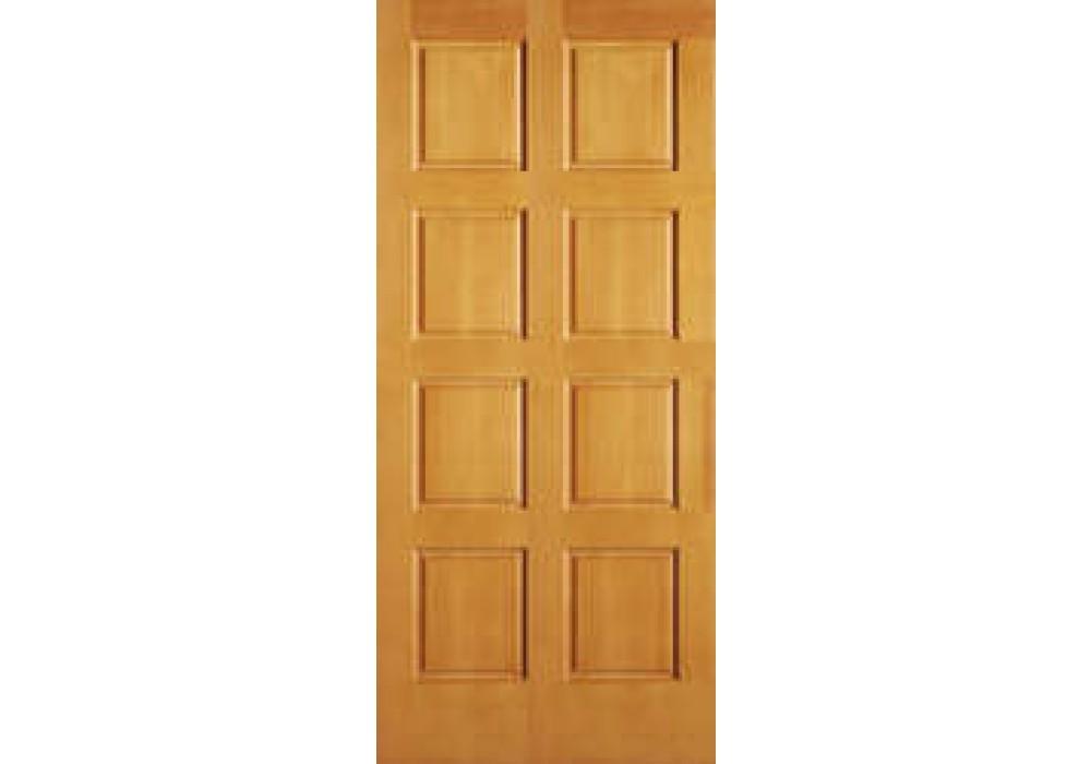 AB2010 Vertical Grain Douglas Fir EXTERIOR 8 Panel Door 1 3 4