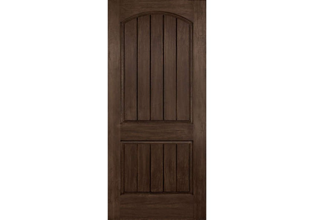 Dra2a cordova plastpro rustic two panel arch plank for Door 1 2 or 3