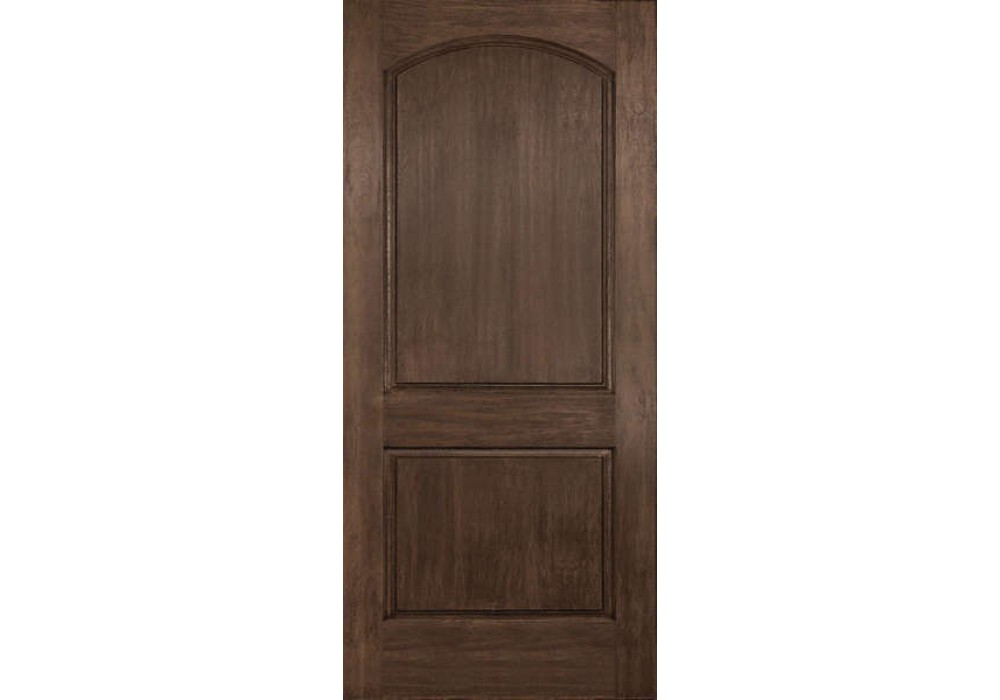 Dra2d linden plastpro rustic two panel arch top door 1 3 4 fiberglass doors for 2 panel arch top interior doors