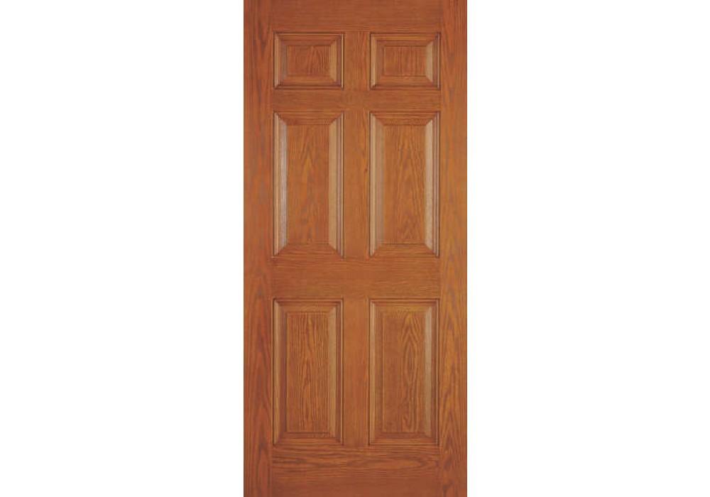 Drg60n002 Calypso Plastpro 20 Minute Woodgrain 6 Panel Entry Door 1 3 4