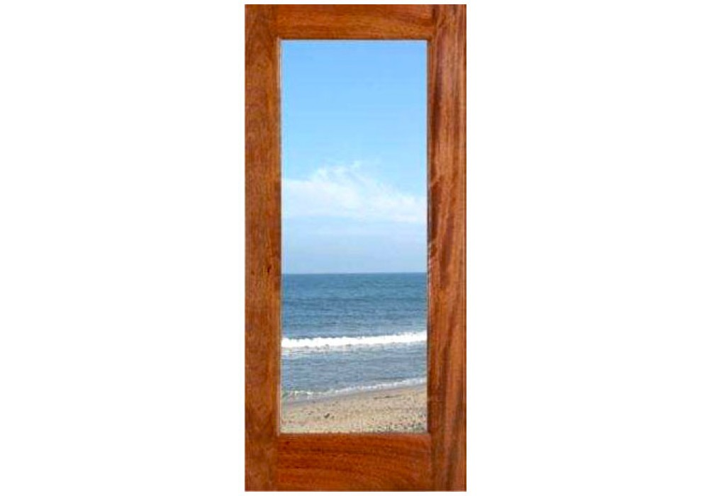 Fd1l mahogany 1 lite dual tempered clear glass 1 3 4 for Mahogany french doors
