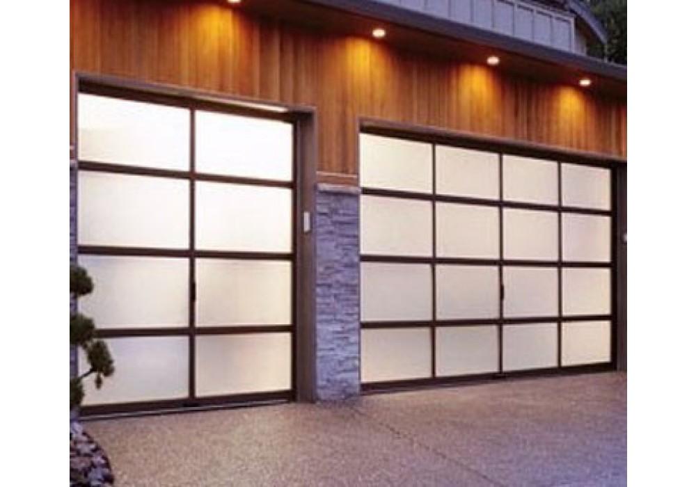 Full View Aluminum amp Frosted Glass Garage Door. Glazed Garage Doors
