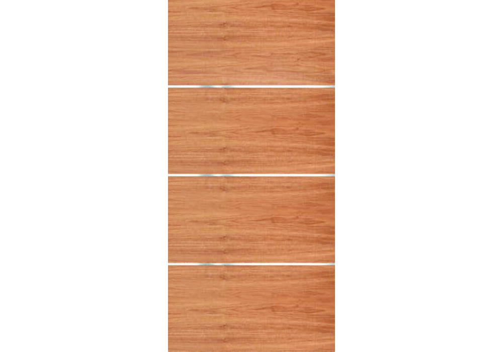 Movida Mahogany Flush Door With 1 4 Quot Horizontal Aluminum