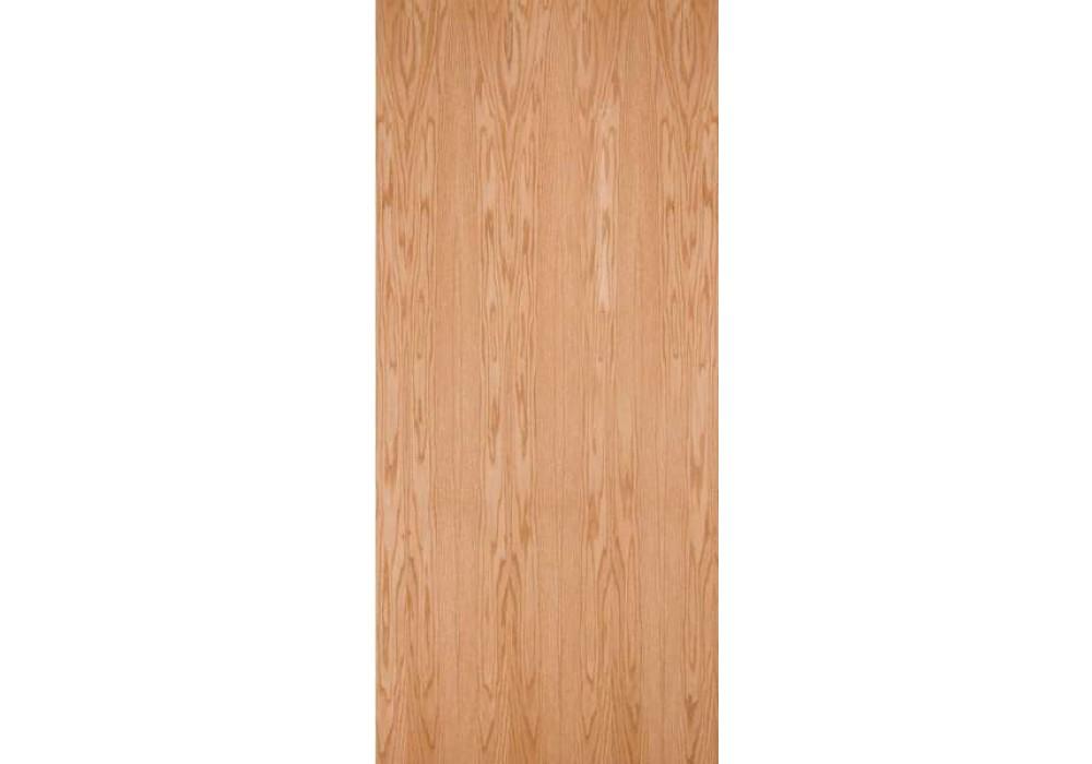 Rops20 Plain Sliced Red Oak Standard Duty Comm Flush
