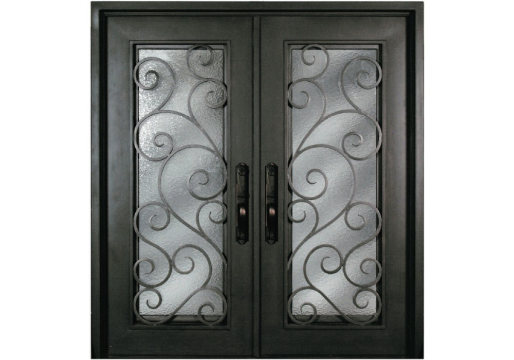 Forged Iron Doors : S shxx escon forged double iron doors