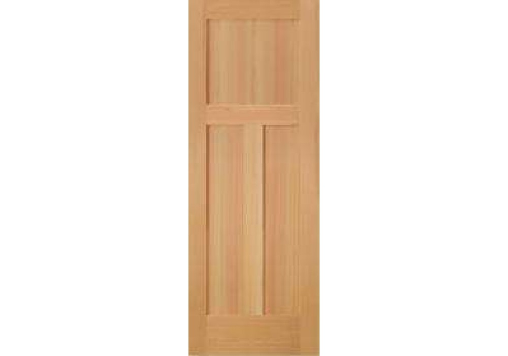 Sf760 vertical grain douglas fir interior doors 3 panel for 1 panel interior door