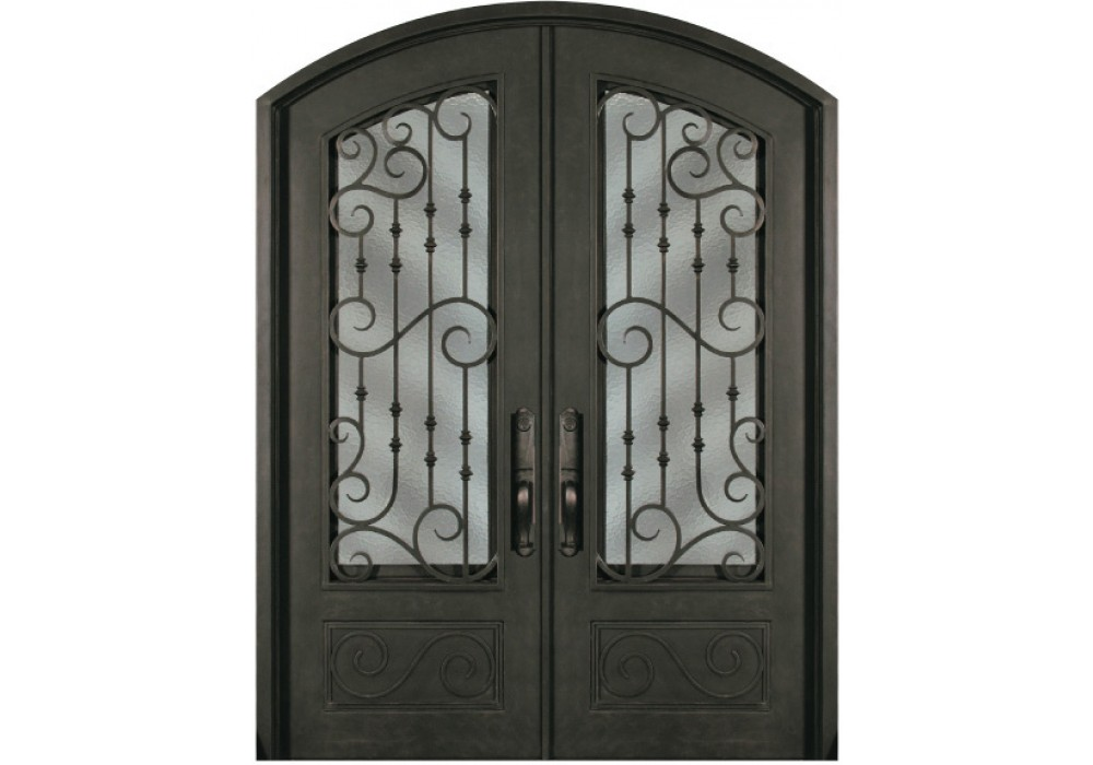 Forged Iron Doors : Escon forged double iron doors