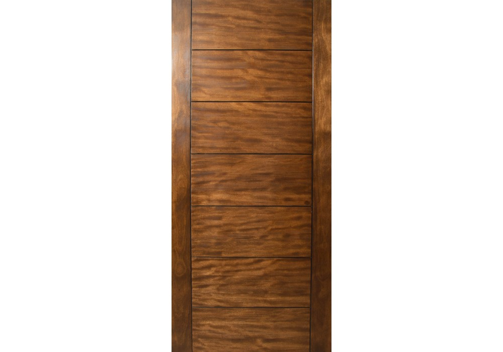 Sulcus Multi Horizontal Plank Wood Door W Vertical Stiles 1 3 4 Quot