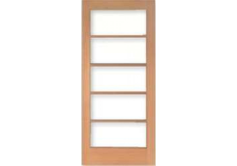 Tm1505 vertical grain douglas fir french doors 5 lite 5 for Double doors with glass