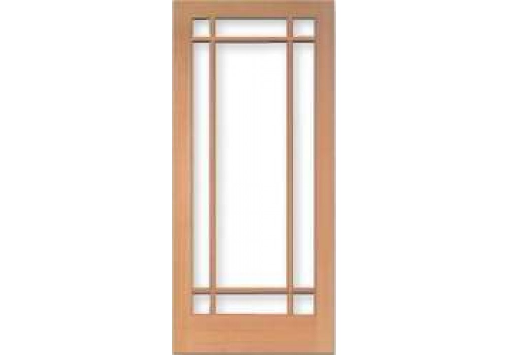 Tm1509 vertical grain douglas fir french door 9 lite for 9 light exterior door