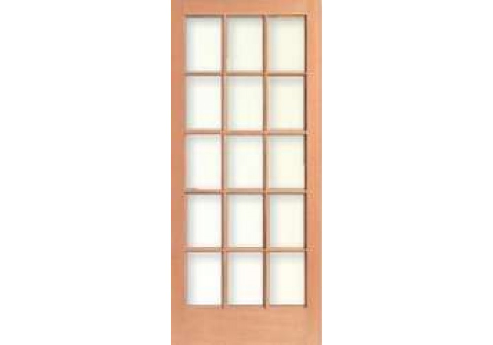 Tm1515 vertical grain douglas fir french door 15 lite 5 for 15 lite entry door