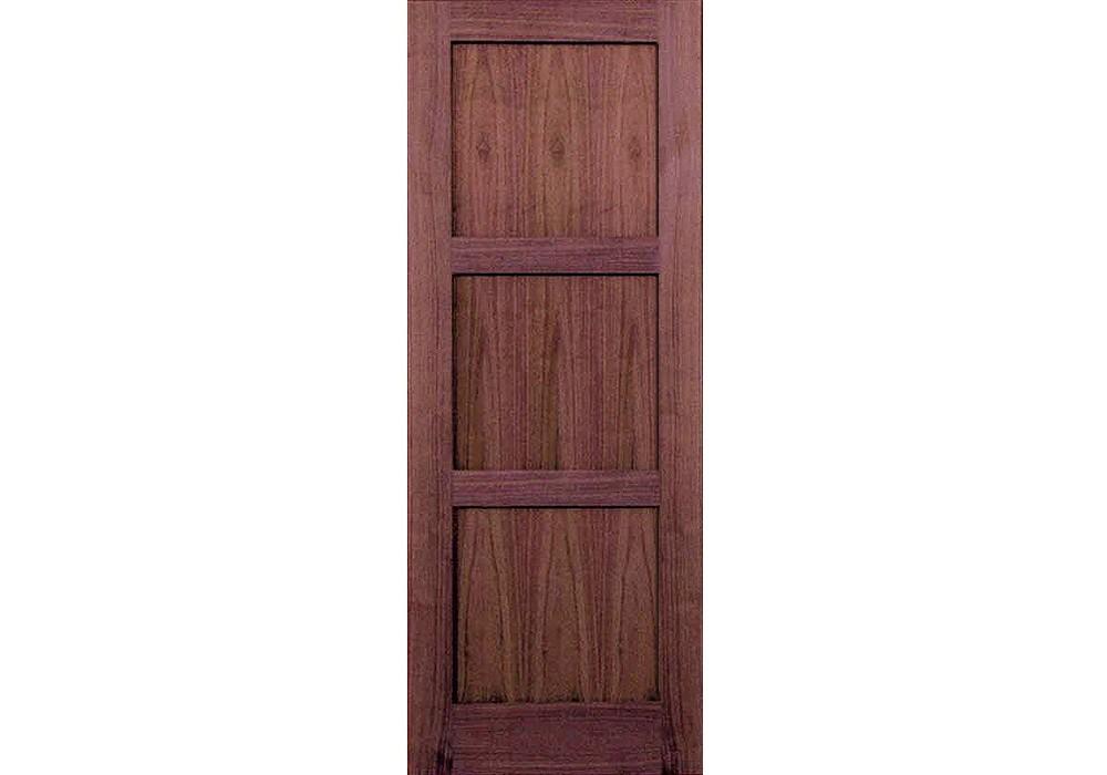 Wv6003p 80 Walnut 3 Panel Shaker Interior Door 1 3 8