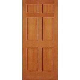 """AB2130 - Vertical Grain Douglas Fir EXTERIOR 6 Panel Door (1-3/4"""")"""