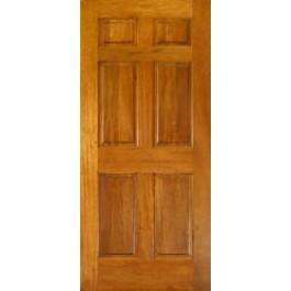 "Mahogany 6 Panel Door 1-3/8"""
