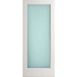 """EXWP1LLAMI - Exterior 1-Lite White Primed with Obscure Lami Glass (1-3/4"""")"""