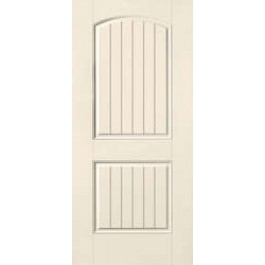 """SS205 - Biloxi-THERMA-TRU SMOOTH STAR V-GROOVE TWO PANEL DOOR (1-3/4"""")"""