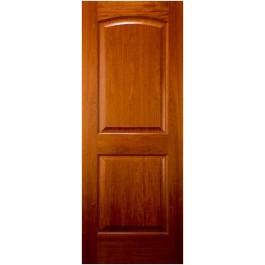 African Cherry 2 Panel Arched Top Door   ETO Doors