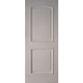 "2PRMSFR20 - 2 Panel Arched Top White Primed with Moulding Fire Rated 20 Min with WH Metal Label  (1-3/4"")"