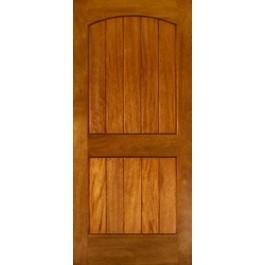 Mahogany Ex240 2-Panel Arch V-Groove | ETO Doors