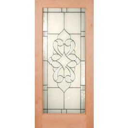 "KA1LElegant - Knotty Alder 1 Lite Door - Elegant Glass (1-3/4"")"