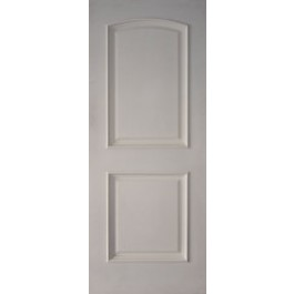 "2PRMS - 2 Panel Arched Top White Primed with Raised Moulding (1-3/4"")"