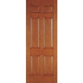 """DRG6080 - Plastpro - FIBERGLASS WOODGRAIN SIX PANEL ENTRY DOOR (1-3/4"""")"""