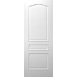 "3CPRMS - 3 Panel Square Top (colonial arched top panel) White Primed w/ Raised Moulding (1 3/4"")"