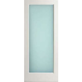 "WP1LLAMI - Interior 1 Lite White Primed with Dual White Laminated (obscure) Glass Door (square sticking) (1-3/4"")"