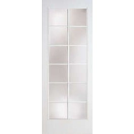 Cushman-Plastpro - 12 LITE SMOOTH SKIN FRENCH FLUSH GLAZED DOOR