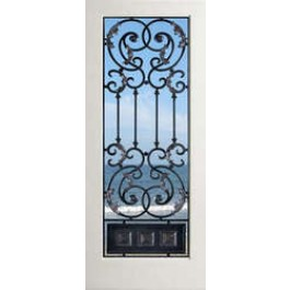 "EXWP1LAmbassador - 1 Lite White Primed Square Sticking Door-Ambassador (1-3/4"")"