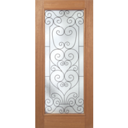 """PHMRoma - Escon Philippine Mahogany with Raised Moulding on One Side and Iron Between Two Panes of Glass (1-3/4"""")"""
