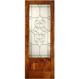 Mahogany Elegant Glass Panel Bottom (8-0ft)