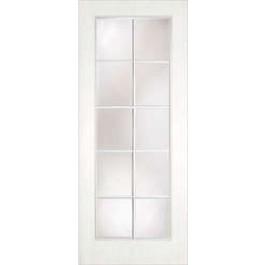 "DRW0010LT - Hickory-Plastpro - CLEAR IG TRUE WHITE OAK 10 LITE DOOR (1-3/4"")"