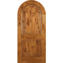"Arvada - Escon Knotty Alder Arch Door with Clavos - [Arvada] (1-3/4"")"