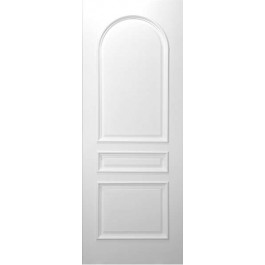 "3 Panel Square Top (TRUE Arched Top Panel) White Primed w/ Raised Moulding (1-3/4"")"