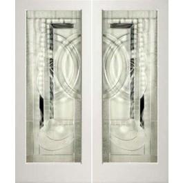 "EXWP1LEL200 - 1 Lite White Primed Square Sticking Door- EL200 (1-3/4"")"