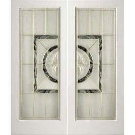 "EXWP1LEL100 - 1 Lite White Primed Square Sticking Door- EL100 (1-3/4"")"