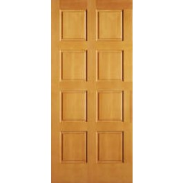 "AB2010 - Vertical Grain Douglas Fir EXTERIOR 8 Panel Door (1-3/4"")"