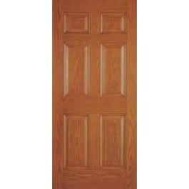 """DRG60 - Plastpro - FIBERGLASS WOODGRAIN SIX PANEL ENTRY DOOR (1-3/4"""")"""