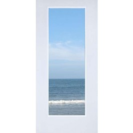 """CLD1 - Steel 1-Lite Primed Door with Dual Tempered Clear Glass (1-3/4"""")"""