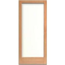 "7001 - Vertical Grain Douglas Fir French Door 1-Lite with Dual Clear Tempered Glass (1-3/4"")"