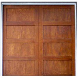 Aria - Contemporary Shaker Stile 4-Panel Wood Garage Doors